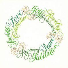lettering wreath