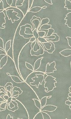 Screen-printed pattern wallpaper - Peony Organza - Div. of Schumacher & Co.