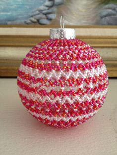 Hand Beaded Ornament