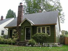 farm+houses+painted+green | Exterior Color Schemes::Green::Paint Colors for the Historic Home / a ...