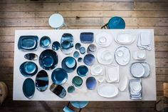 Handmade porcelain and stoneware ceramics by Michele Michael.