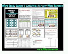 word study centers 2nd grade - Google Search