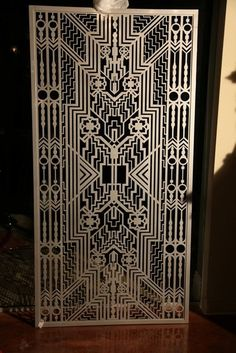 Laser cut screen- Ornate art deco