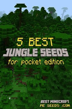 Awesome collection of the best jungle seeds for minecraft pocket edition / MCPE. From Jungle villages to Jungle temples, caves and diamonds - these huge jungle seeds will keep you entertained on Minecraft PE for a long time! #mcpe #minecraft