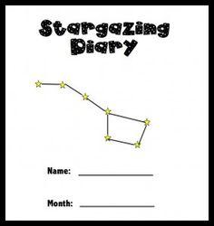Stargazing Diary - good for homeschool, camping, 4-H Cloverbuds