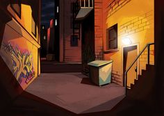 cartoon alley | Alley Way background by Frikxnel on DeviantArt