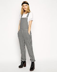 Pin for Later: Forget What You Thought You Knew About Dungarees; They're Not Just For Mechanics ASOS Reclaimed Vintage Dungarees in Black and White Check ASOS Reclaimed Vintage Dungarees in Black and White Check (£95)