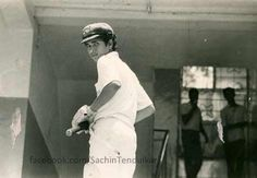 16 year old Sachin Tendulkar, who knew he is going to be a number 1 cricket player in the history! New English School, Cricket Coaching, Kapil Dev, Test Cricket, Sachin Tendulkar, Childhood Photos, Life Photo, Touring