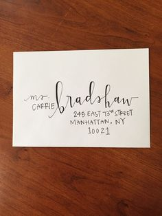 Custom Modern Calligraphy Envelope Addressing by 1of1doodles on Etsy https://www.etsy.com/listing/226716749/custom-modern-calligraphy-envelope
