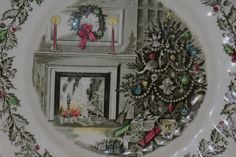 Merry Christmas Plate Johnson Brothers England by monjardinVintage, $22.50