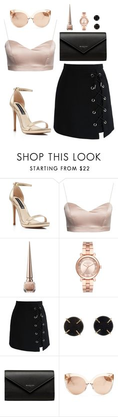 """""""Untitled #372"""" by hayleyl22 ❤ liked on Polyvore featuring Steven by Steve Madden, Christian Louboutin, Michael Kors, Chicwish, Melissa Joy Manning, Balenciaga and Linda Farrow"""