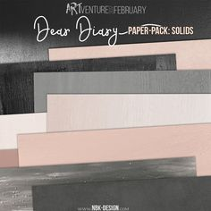 Dear Diary {Paperset: Solids}NKB Design Digital scrapbook