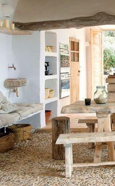 Ejemplos de decoración rústica de la marca de diseño holandesa COCOON #decoraciondecocinasrusticas