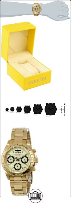 Invicta Invicta Speedway 14931 - Reloj cronógrafo de cuarzo para mujer, correa de acero inoxidable chapado color dorado (cronómetro, agujas luminiscentes) de  ✿ Relojes para mujer - (Gama media/alta) ✿