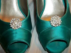 Bridal Shoe Clips  set of 2  Sparkling Crystal by ShoeClipsOnly, $22.00