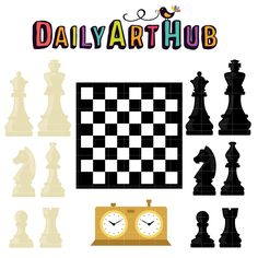 Chess Game Clip Art Set koop