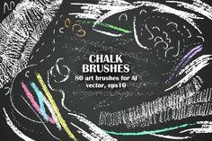Chalk brush handy set by katya.bogina on @creativemarket