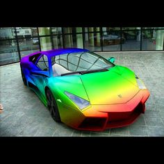 Somewhere, over the rainbow... there's a lambo!  I'd totally love this...