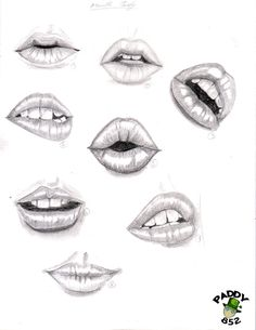 study of lips by paddy852.deviantart.com