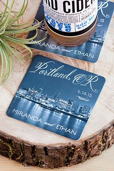 Personalized Coasters add something special to your #wedding day