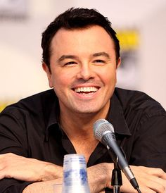 Seth MacFarlane I love his smile when his eyes disappear :)