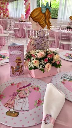 Sara Kay, Holly Hobbie, Floral Border, Party Printables, Baby Shower Parties, Party Themes, Special Occasion, Centerpieces, Alice