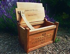 Large personalised wine crate chest