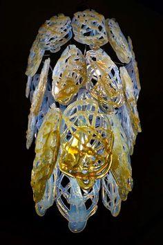 Pieces de rechange pour des lustres en verre de Murano: Lustre Mazzega en verre soufflè de murano, rèparation et pièces de rechange