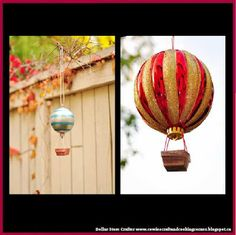 Dollar Store Crafter: How To Make Hot Air Balloon Ornament Tutorial