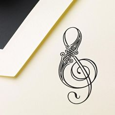 music notes, music, flower, treble clef, tattoo