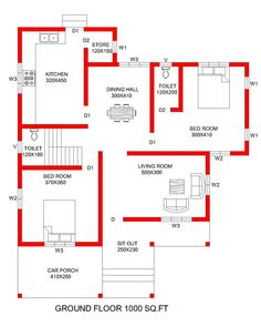 A house plan is a set of construction or working drawings (sometimes called blueprints) that define all the construction specifications of a residential Modern Bungalow House Plans, Small Modern House Plans, Unique House Plans, Indian House Plans, Beautiful House Plans, Duplex House Plans, 2bhk House Plan, Three Bedroom House Plan, Model House Plan