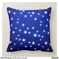 Blue Stargazer Throw Pillow Blue Pillows, Throw Pillows, Patriotic Decorations, Dyi Decorations, Homemade Crafts, Star Patterns, Custom Pillows, Decorative Pillows, Fourth Of July