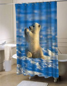 Baby polar bear shower curtain customized design for home decor#showercurtain #showercurtains #shower #curtain #curtains #bath #bathroom #home #living #homeliving #cutecurtain #funnycurtain #decorativeshowercurtain #decoration