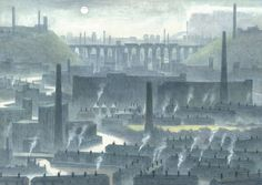 Helen Clapcott - paintings of Stockport: Grey Stockport Uk, Decay Art, Industrial Paintings, Manchester Art, Terraced House, Working Class, Cityscapes, Pencil Art, House Painting