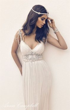 Anna Campbell Gossamer Wedding Dresses 2016 / http://www.deerpearlflowers.com/anna-campbell-gossamer-2016-wedding-dresses/