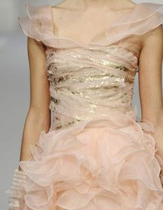 Pink and gold ruffles