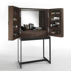 Shop the Cambusa Fly Cabinet and more contemporary furniture designs by Riva 1920 at Haute Living. My Furniture, Furniture Design, Dressing Table Modern, Dressing Tables, Dressing Room, Dresser Table, Bali House, Hair Salon Interior, Luxury Candles