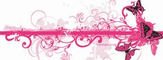 Pink and Black Butterflies Facebook Cover CoverLayout.com