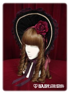 Baby, the stars shine bright Antique Lace Doll bonnet