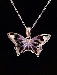 Swarovski elements Butterfly Necklace by KelsysCharm on Etsy, $13.00