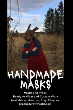 Handmade masks for Halloween costumes, masquerade balls,  cosplay. Creepy adult masks or child masks for pretend play, photo shoots and other fun times. #props #costume #halloween #mask  Ready to wear and Custom masks for Stage, Film, Masquerades and parties. Crookedcrowmasks.com - #crookedcrowmasks