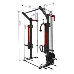 Home Gym Garage, Diy Home Gym, Gym Room At Home, Gym Rack, Homemade Gym Equipment, Crossfit Box, Indoor Gym, Gym Machines, Body Therapy