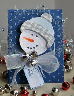 Sweet Snowman Gift Card Holder...with jingle bells...Teresa: Inspiration Station - baseret blog.