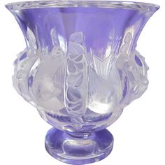 Signed Lalique Dampierre Vase from Old World Antiques on Ruby Lane