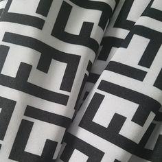 28e3fd071 Designer inspired Fendi White Black FF Spandex #spandexfabric  #bestvaluebuttons Swimsuit Fabric, Spandex Fabric