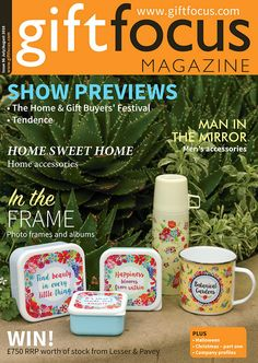 Gift Focus Magazine Issue 96 July / August 2016 featuring our 'Botanical Gardens' collection on the front cover #magazine #cover #BotanicalGarden #giftware