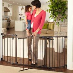 """Perfect for oversized... North States 103/"""" Wide Extra-Wide Swing Baby Gate"""