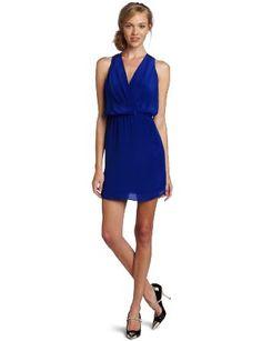 Rory Beca Women's Maya Wrap Dress,Sapphire,Small:#Dress