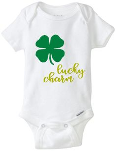 96ab03e01 Items similar to Lucky Charm Onesie, Lucky Charm, St. Patrick's Day, St.  Patty's Day, Baby Onesie on Etsy