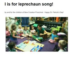Cutest little leprechaun song you ever did hear!